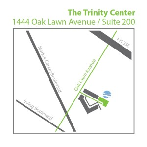 Map to The Trinity Center